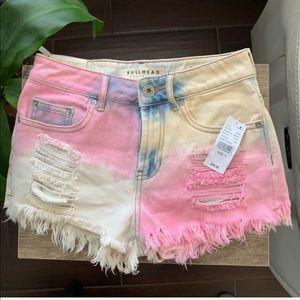 Bullhead Hi Rise Jean Shorts Pink Cloud Size 1